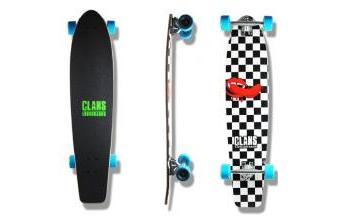 Clans Beginner Longboard Lusty City 38.0 x 8.5 inch