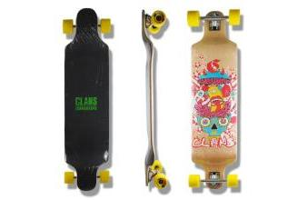 Clans Beginner Drop Down Longboard Crazy 41.25 x 9.75 inch