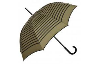 Jean Paul Gaultier womens umbrella in navy look khaki with blue stripes