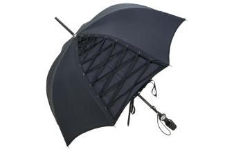 Jean Paul Gaultier womens umbrella with refined corsage lacing