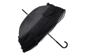 Chantal Thomass womens umbrella with large tulle loop