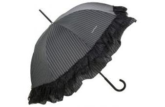 Chantal Thomass womens designer umbrella Sidonie with ruffles and lace trim